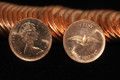 1967 CANADA ROLL OF 1 CENT PROOFLIKE COINS (50 COINS)