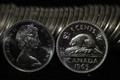 1965 CANADA ROLL OF 5 CENT NICKEL PROOFLIKE COINS (40 COINS)