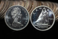 1965 CANADA ROLL OF 10 CENT SILVER DIMES PROOFLIKE COINS (50 COINS)