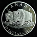 2014 CANADA $20 FINE SILVER COIN -THE BISON: THE BULL AND HIS MATE