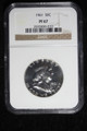1961 FRANKLIN SILVER HALF DOLLAR COIN PROOF NGC PF67 #36-010