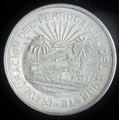 1950 MEXICO 5 PESO SILVER COIN (OPENING OF SOUTHERN RAILROAD) #5446