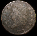 1812 LARGE CLASSIC HEAD CENT COPPER VERY GOOD+ COIN #5472