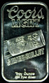 1oz .999 FINE SILVER BAR (COORS LIGHT SILVER BULLET) SUNSHINE MINTING COMPANY