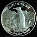 1988 New Zealand Silver Dollar Penguin Proof (w/Box & COA)