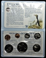 1988 New Zealand 7 Coin Uncirculated Set Yellow Eyed Penguin Dollar