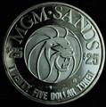 MGM Sands $25 Gaming Token 1.5 oz .999 Fine Silver