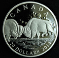 2014 CANADA $20 FINE SILVER COIN -THE BISON: THE FIGHT
