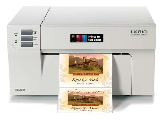LX810 label printer