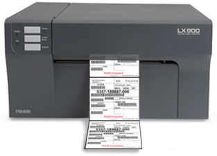 LX900 printing barcode labels