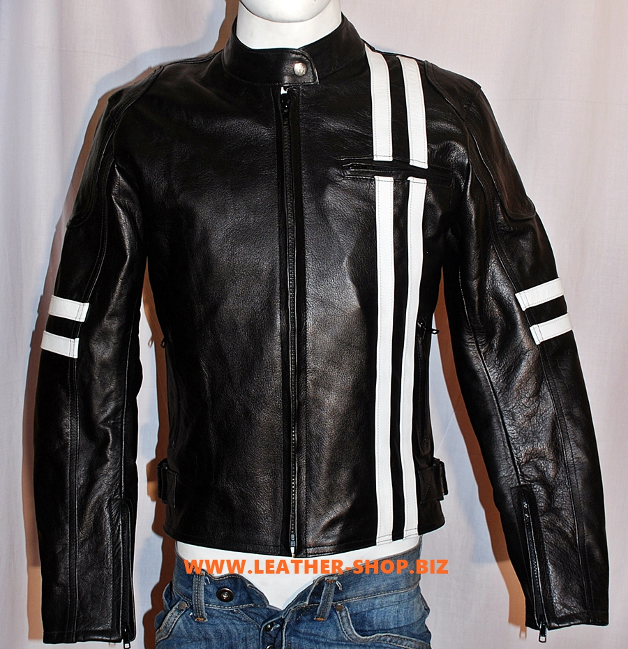 Leather Jacket Custom Made Racer Style MLJ233 WWW.LEATHER-SHOP.BIZ