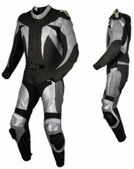 Leather racing suit custom made - style MS678 WWW.LEATHER-SHOP.BIZ front and side pic