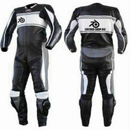 Leather racing suit custom made - style MS0044LS