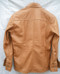 Mens lambskin leather shirt LS060 light brown with French Cuffs back pic
