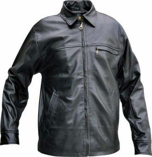 Leather shirt style LS119 www.leather-shop.biz front pic