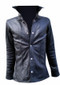 Leather shirt style LS060 black www.leather-shop.biz front image