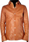 Leather shirt style LS060 light brown www.leather-shop.biz front image