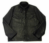 Leather shirt style LS030 www.leather-shop.biz front image