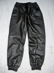 Sweat Pants Leather Lined Style LSP010LL www.leather-shop.biz front pic