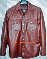 Lambskin Leather Shirt Custom Made Style LS026