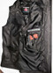 Long leather vest style MLVL10 www.leather-shop.biz gun pocket option pic