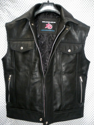 Leather Vest Jeans Style MLV1332 www.leather-shop.biz front pic