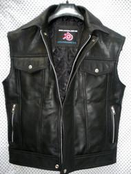 Leather Vest Jeans Style MLV1332 www.leather-shop.biz front pic