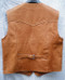 LEATHER VEST WESTERN STYLE MLV85 light brown shown WWW.LEATHER-SHOP.BIZ back pic