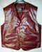 LEATHER VEST WESTERN STYLE MLV85 Burgundy shown WWW.LEATHER-SHOP.BIZ front pic