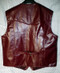 LEATHER VEST WESTERN STYLE MLV85 Burgundy shown WWW.LEATHER-SHOP.BIZ back pic