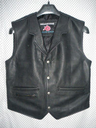 Mens Leather Vest Western Style MLV85 7 Colors Available