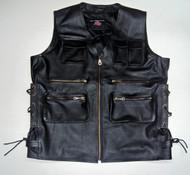 Leather vest style MLV1363L www.leather-shop.biz front pic