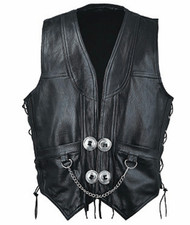 Leather vest 1376 www.leather-shop.biz front image