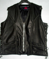 Leather Vest Style MLV1359 www.leather-shop.biz front pic