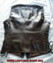 Custom Made Leather Vest Style WLV1204 dark brown back pic