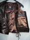 Custom Made Leather Vest Style WLV1204 dark brown inside pic