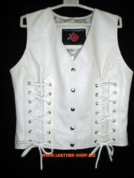 Ladies Leather Vest Style WLV1216 available in 8 colors