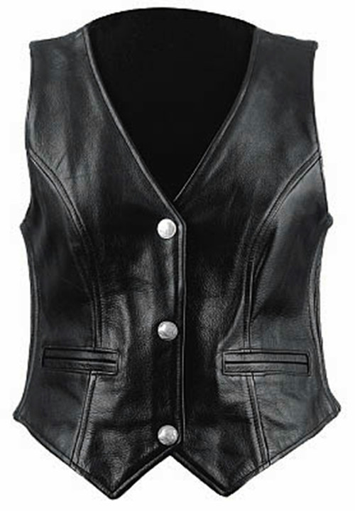 Custom Made Leather Vest Style WLV1254