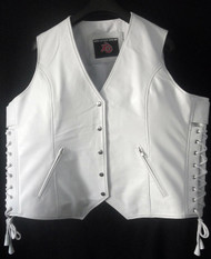 Custom Made Leather Vest Style WLV1201 WWW.LEATHER-SHOP.BIZ front pic