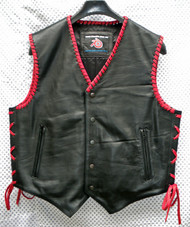 Leather Vest Style MLVB740 no seams WWW.LEATHER-SHOP.BIZ front pic