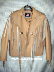 Leather Jacket With Fringe Custom Made Style MLFJ203 in 8 colors