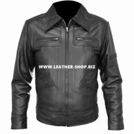 Leather Jacket Bomber Style MLJ0015B Custom Made In 8 Colors