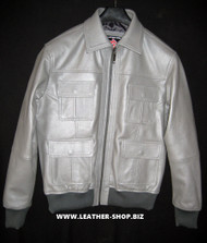 Leather Jacket Bomber Style MLJ0055B Custom Made In 8 Colors