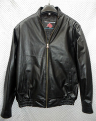 Leather Jacket Bomber Style MLJ0044B Custom Made In 8 Colors