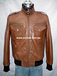 Leather Jacket Bomber Style MLJ0030B Custom Made In 8 Colors