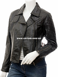 Ladies Leather Jacket Custom Made Diamond Stitch Style LLJ602 Made In 8 Colors