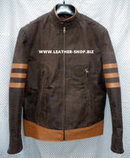 Leather Jacket X-Men Wolverine Style MLJ166W Custom Made In 8 Colors