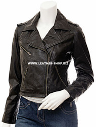 Ladies Leather Jacket Custom Made Motorcycle Style LLJ614 Made In 8 Colors