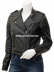 Ladies Leather Jacket Custom Made Motorcycle Style LLJ619 Made In 8 Colors