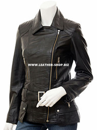 Ladies Leather Jacket Custom Made Motorcycle Style LLJ620 Made In 8 Colors